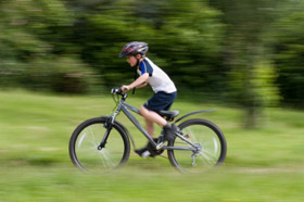 Boy Cycling in Richmond Park